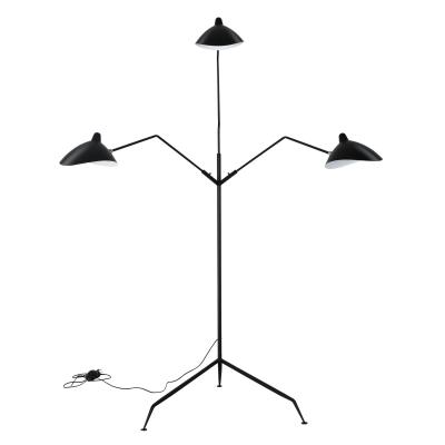 BVH Modern Three-Arm Floor Lamp  Serge Mouille France Design