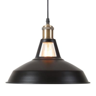 Bushwick Industrial Pendant Light - Black-8605S-BK