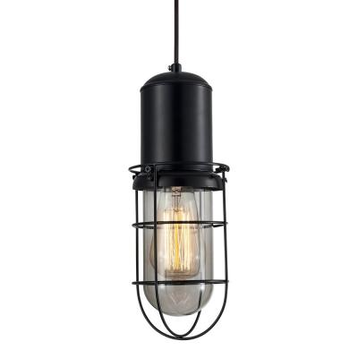 Portside Caged Pendant Light - Black-8613S